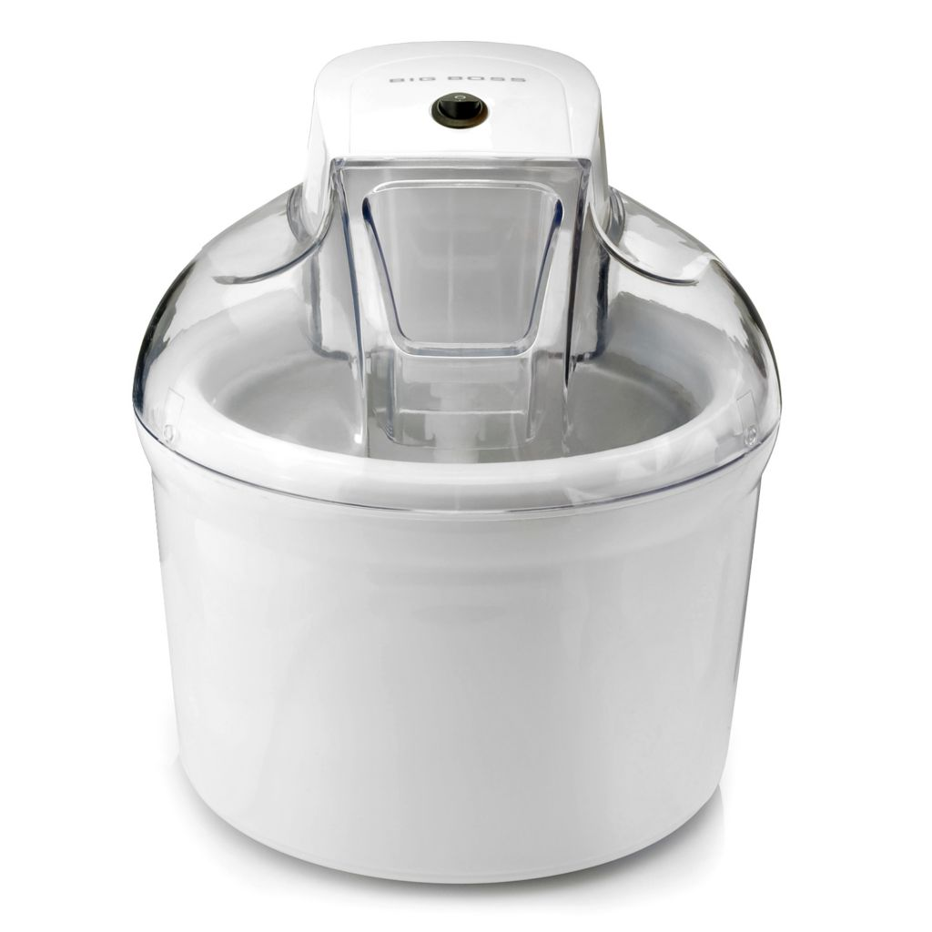 445-696 - Big Boss™ 12W 1.5 Liter Ice Cream Maker w/ Recipe Book