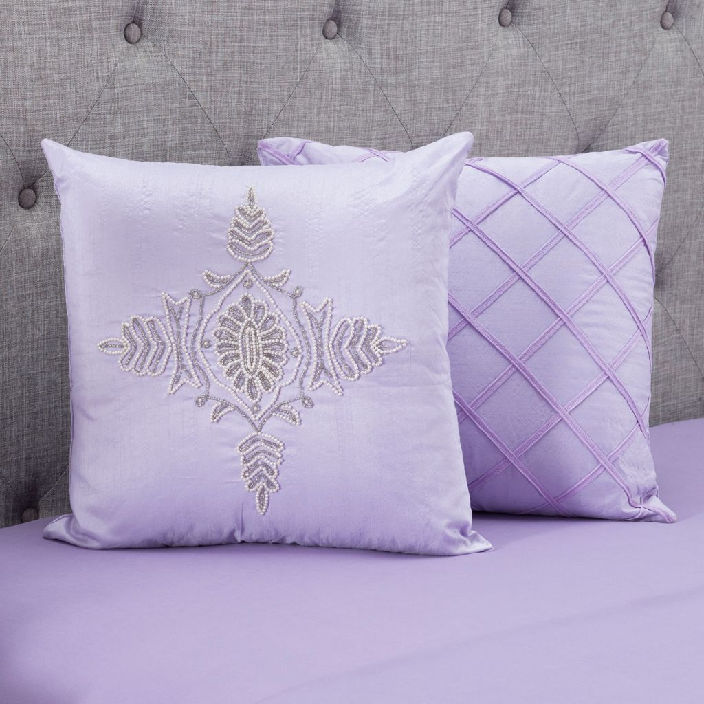 "445-703 - North Shore Linens™ Set of Two 16"" x 16"" Decorative Pillows"