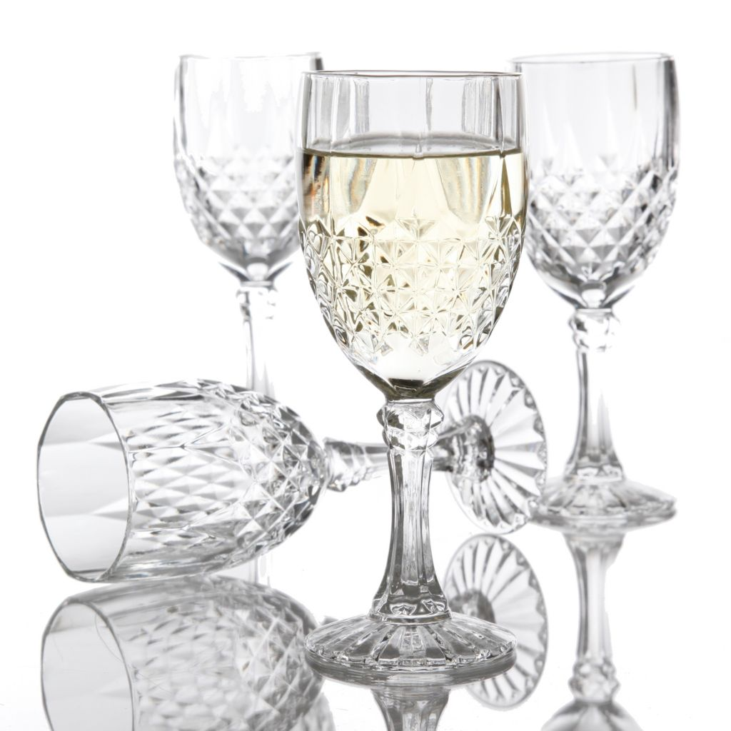 445-743 - Gibson Home Jewelite Set of Four 8 oz Wine Glasses