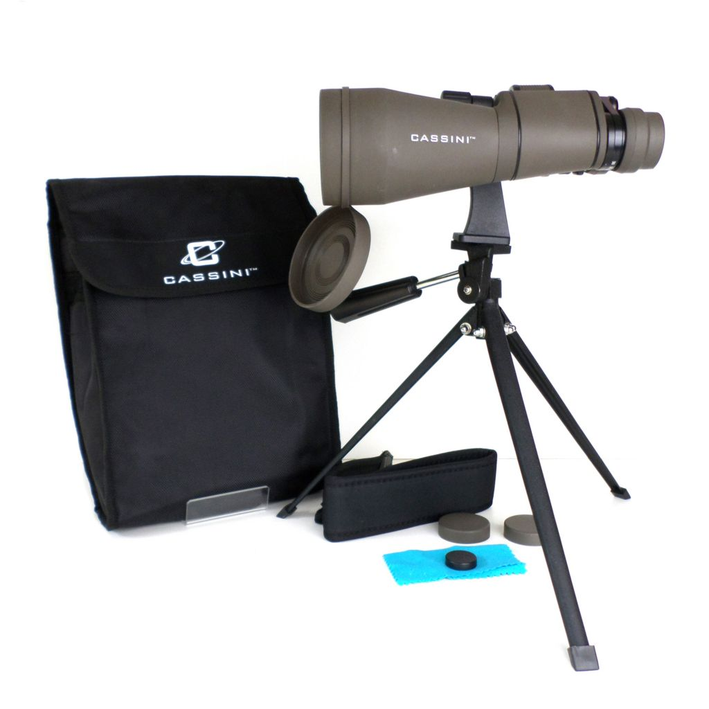 445-796 - Cassini 60mm 10-30X Zoom Binocular w/ Tripod & Case