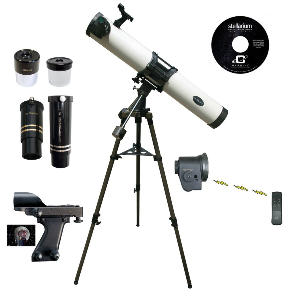 445-802 - Cassini 800mmx80mm Reflector Telescope w/ Electronic Remote Focus & Handbox