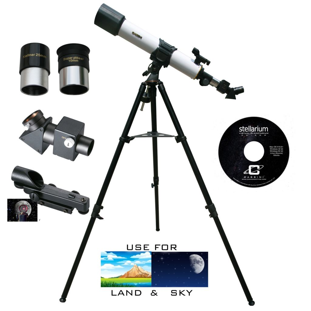 445-804 - Cassini 720mmX80mm Astronomical & Terrestrial Refractor Telescope Kit