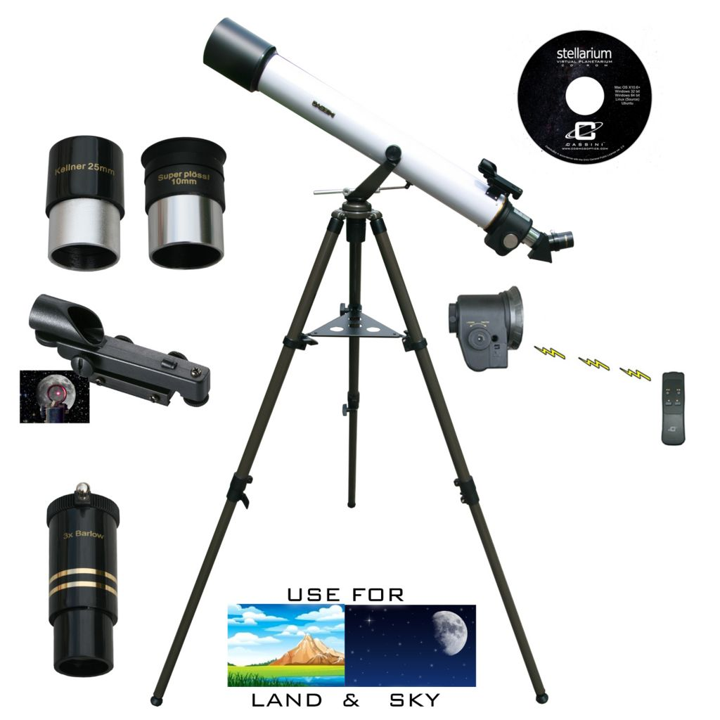 445-805 - Cassini 800mmx72mm Refractor Telescope w/ Electronic Remote Focus & Handbox