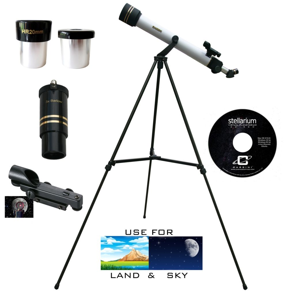 445-806 - Cassini 600mmX50mm Astro & Terrestrial Refractor Telescope Kit