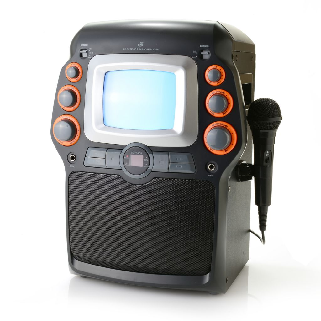 445-866 - GPX® CD/Karaoke Multi Media Player w/ Built-in Display & Microphone
