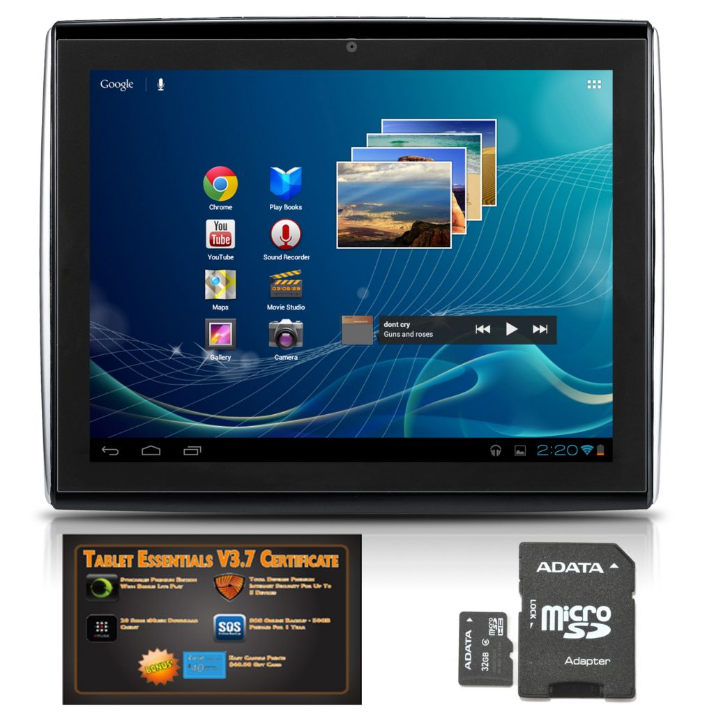 "445-872 - LePan II 9.7"" LCD Google Certified Android™ 4.0 Wi-Fi Tablet w/ Software & 32GB MicroSD"