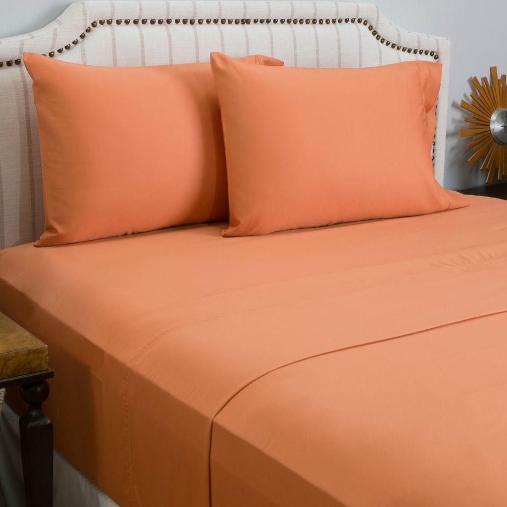 445-875 - Cozelle® 600TC Cotton / Poly Blend Solid Four-Piece Sheet Set
