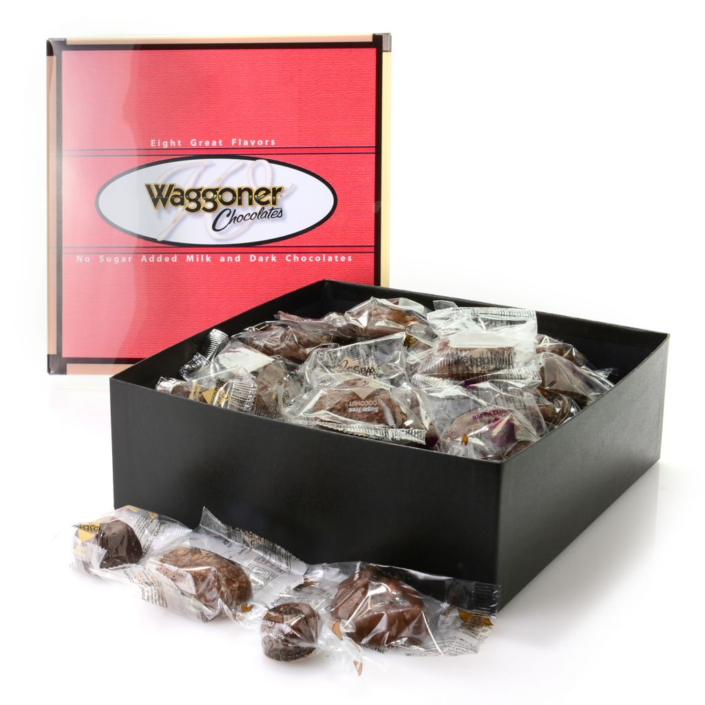 "445-881 - Waggoner Chocolates 3 lb Individually Wrapped Assorted ""No Sugar Added"" Chocolates"