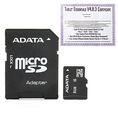 445-890 - ADATA 8GB/16GB/32GB MicroSD Card & SD Adapter w/ Software