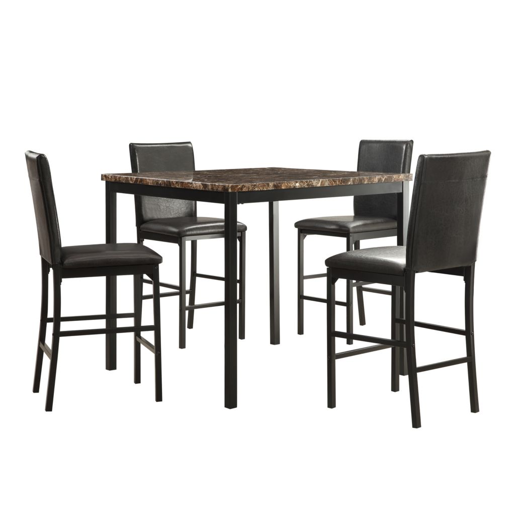 445-948 - HomeBasica Bridgeview Five-Piece Counter Height Dining Set
