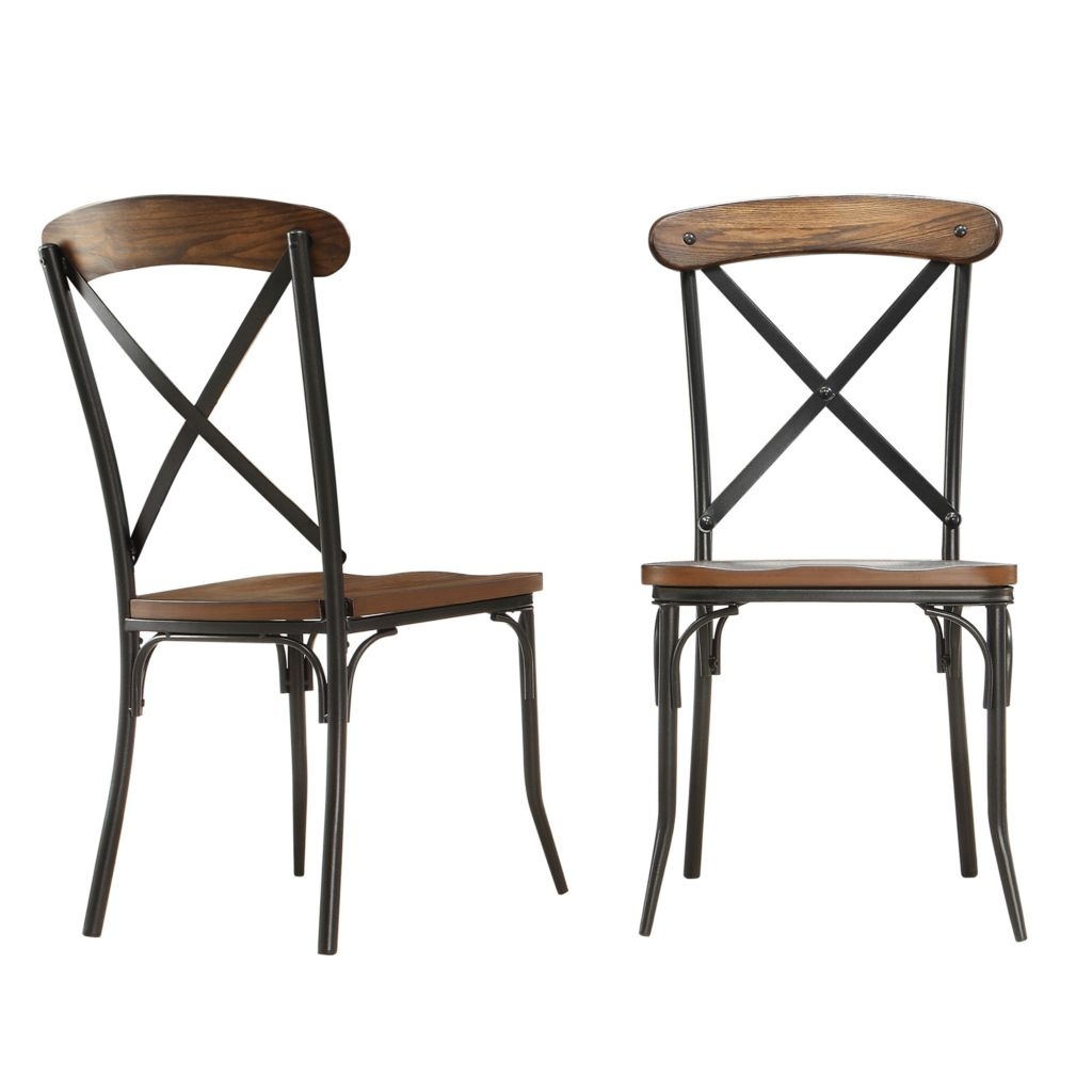 "445-959 - HomeBasica Set of Two 38"" Coventry Side Chairs"