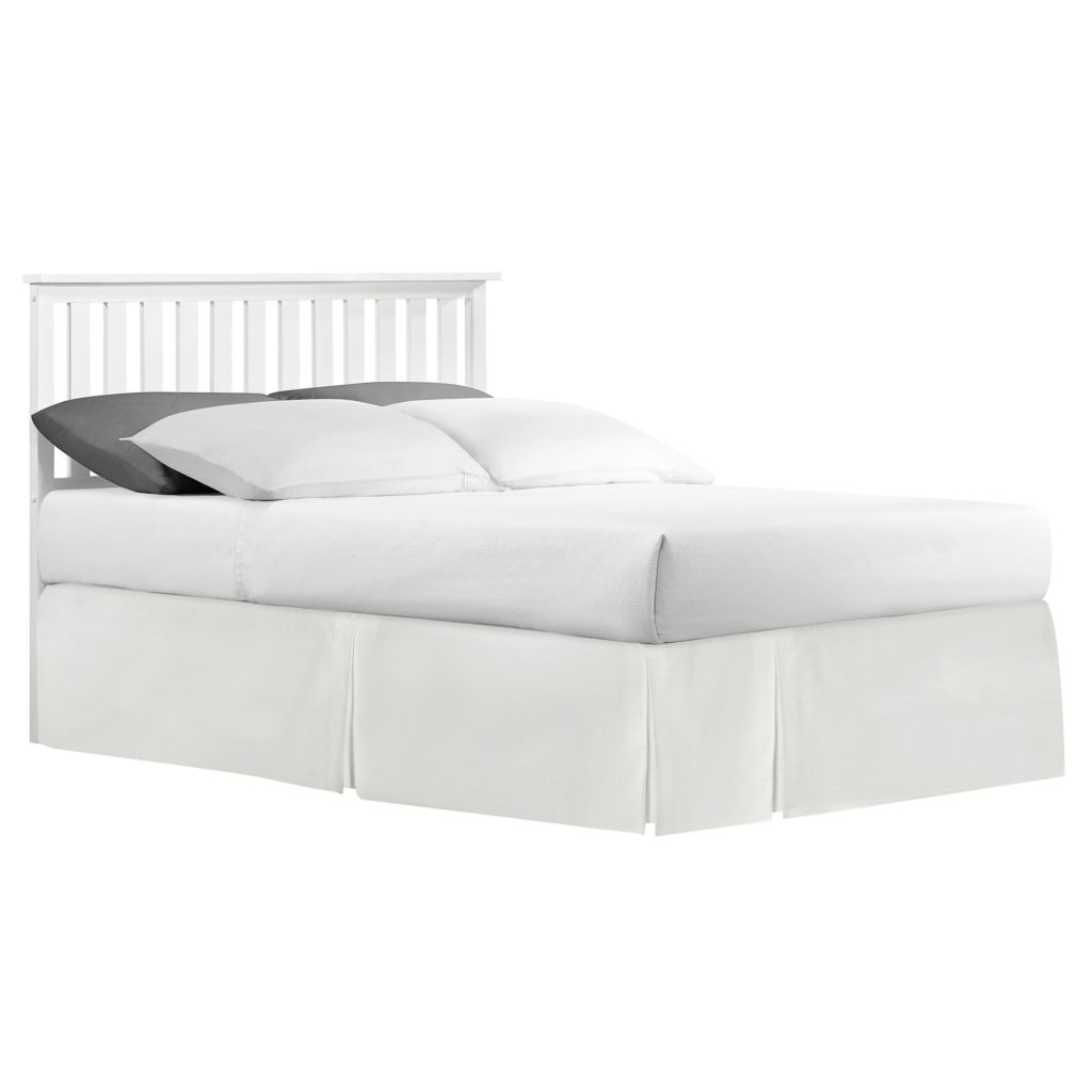 445-971 - HomeBasica Lexington Mission Slat White Headboard
