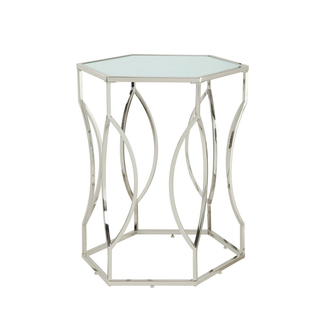 "445-983 - HomeBasica 26"" Corwin Hexagonal Accent Table"