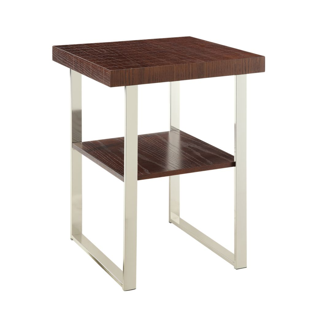 "445-986 - HomeBasica 26"" Genoa Dual Top Accent Table"