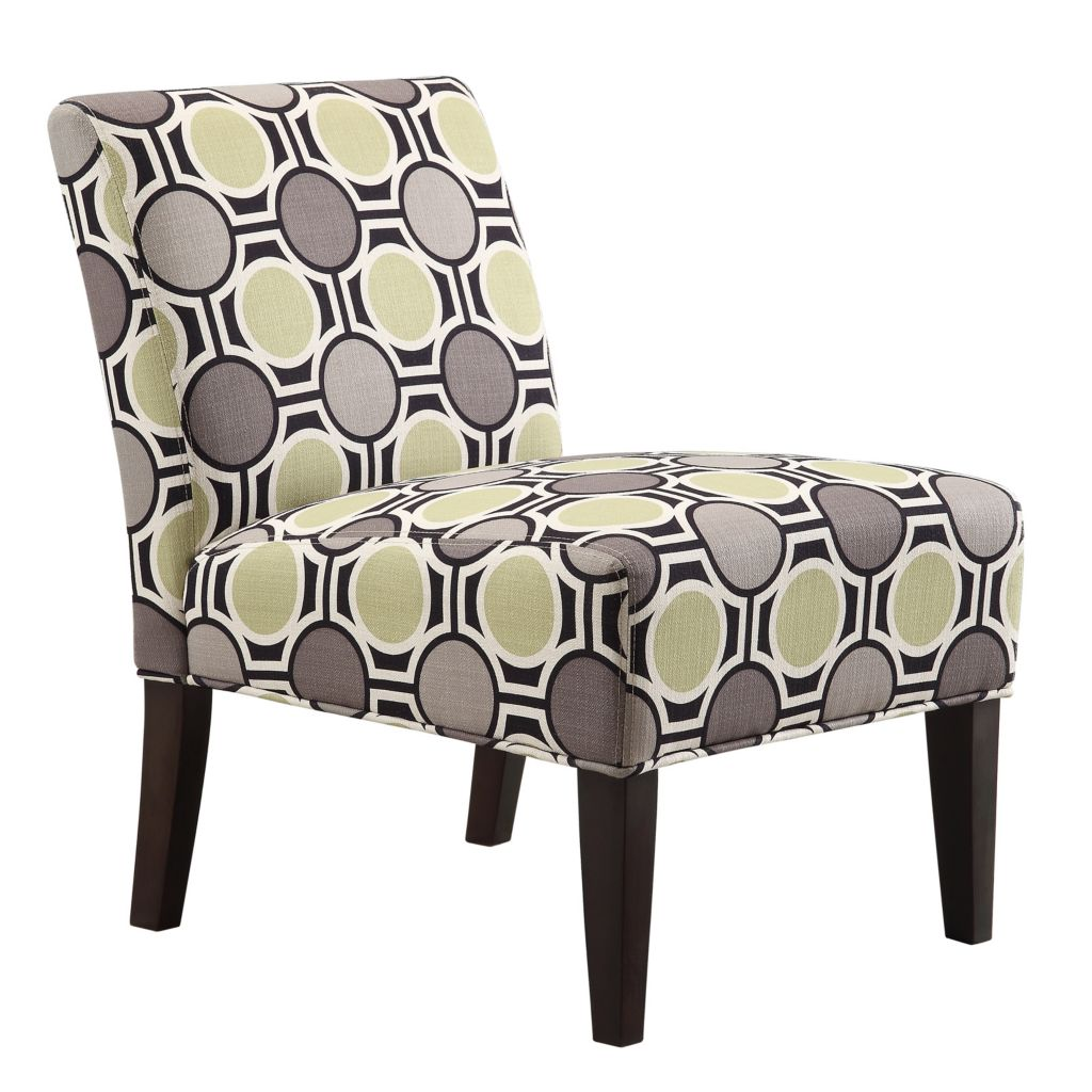 "445-991 - HomeBasica 32.5"" Harlow Wood Upholstered Slipper Chair"
