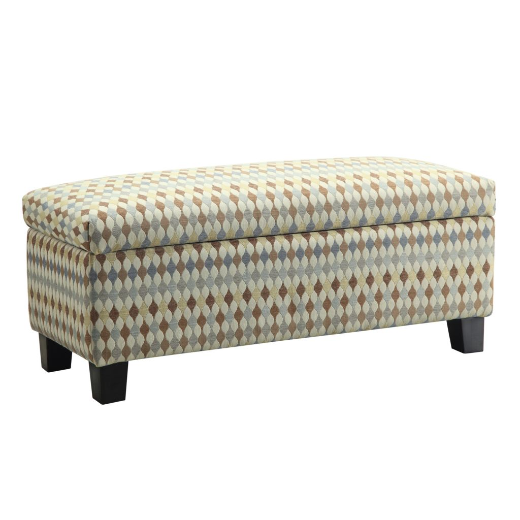 "445-993 - HomeBasica 43"" Upholstered Lydia Storage Bench"