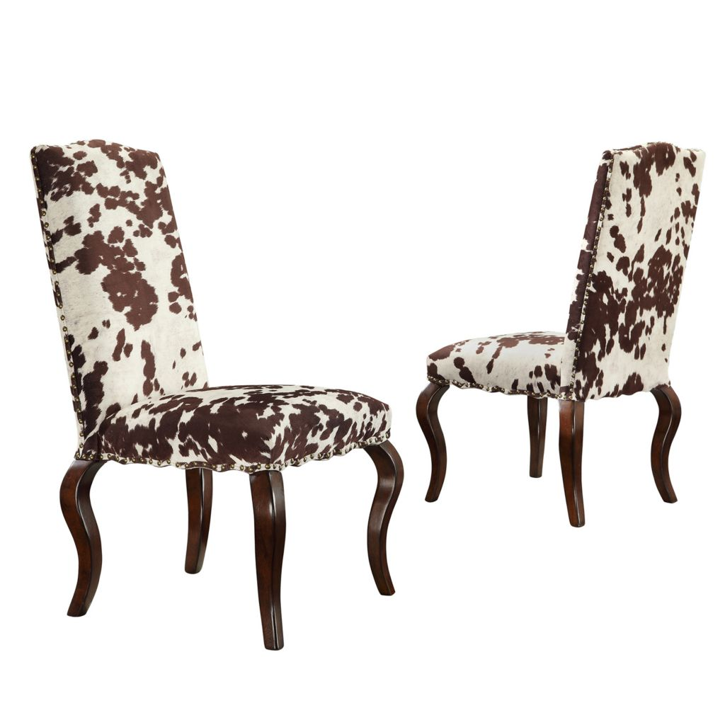 "445-995 - HomeBasica Set of Two 39"" Montgomery Cabriole Leg Chairs"
