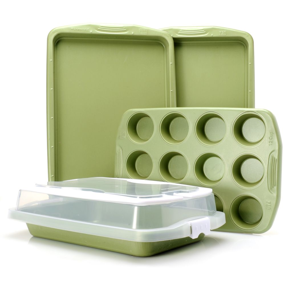 446-071 - Cook's Companion™ Five-Piece Color Nonstick Bakeware Set w/ Carrying Cover
