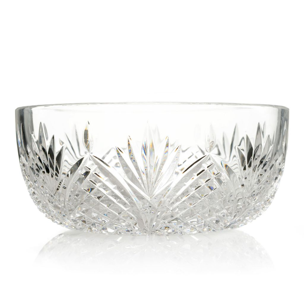 "446-075 - House of Waterford® Viking Triangle 8"" Crystal Bowl -Signed"