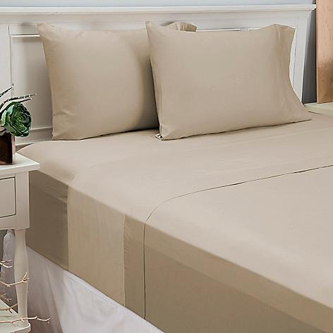 446-143 - North Shore Linens™ 500TC 100% Cotton Four-Piece Sheet Set