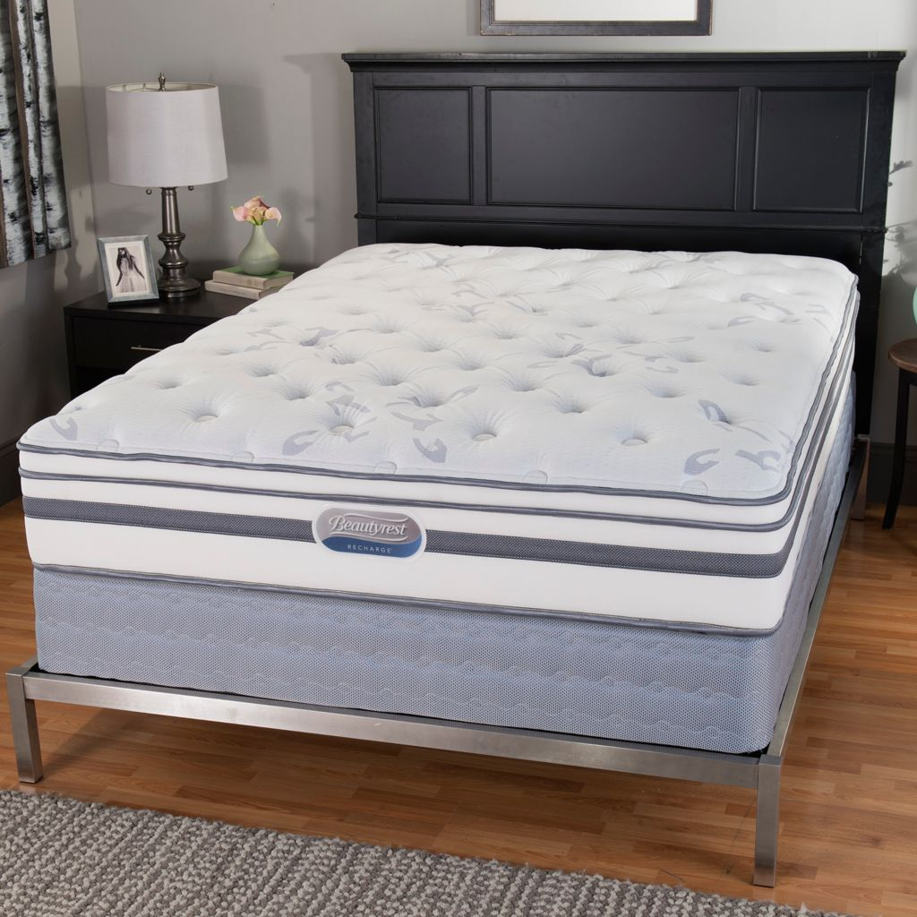 "446-151 - Beautyrest® Recharge® ""Windcrest"" Plush Euro Top Mattress Set"
