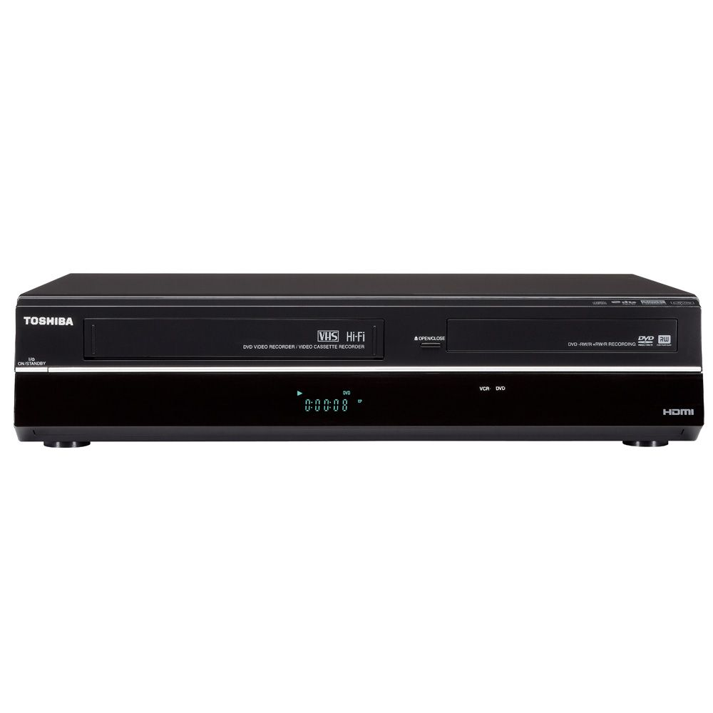 446-166 - Toshiba 2-in-1 DVD Recorder & VCR Player w/ 1080p Upconversion