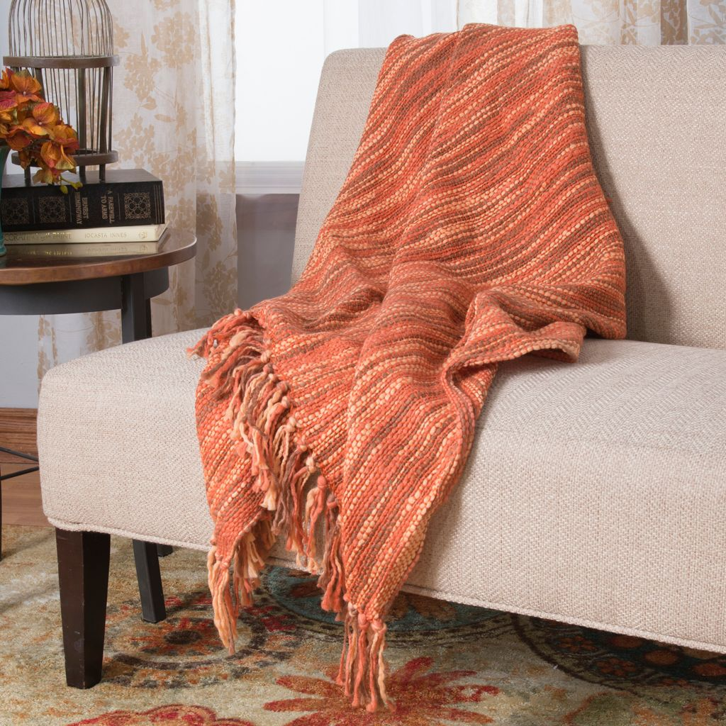 "446-170 - Cozelle® 60"" x 50"" Woven Fringe Throw"