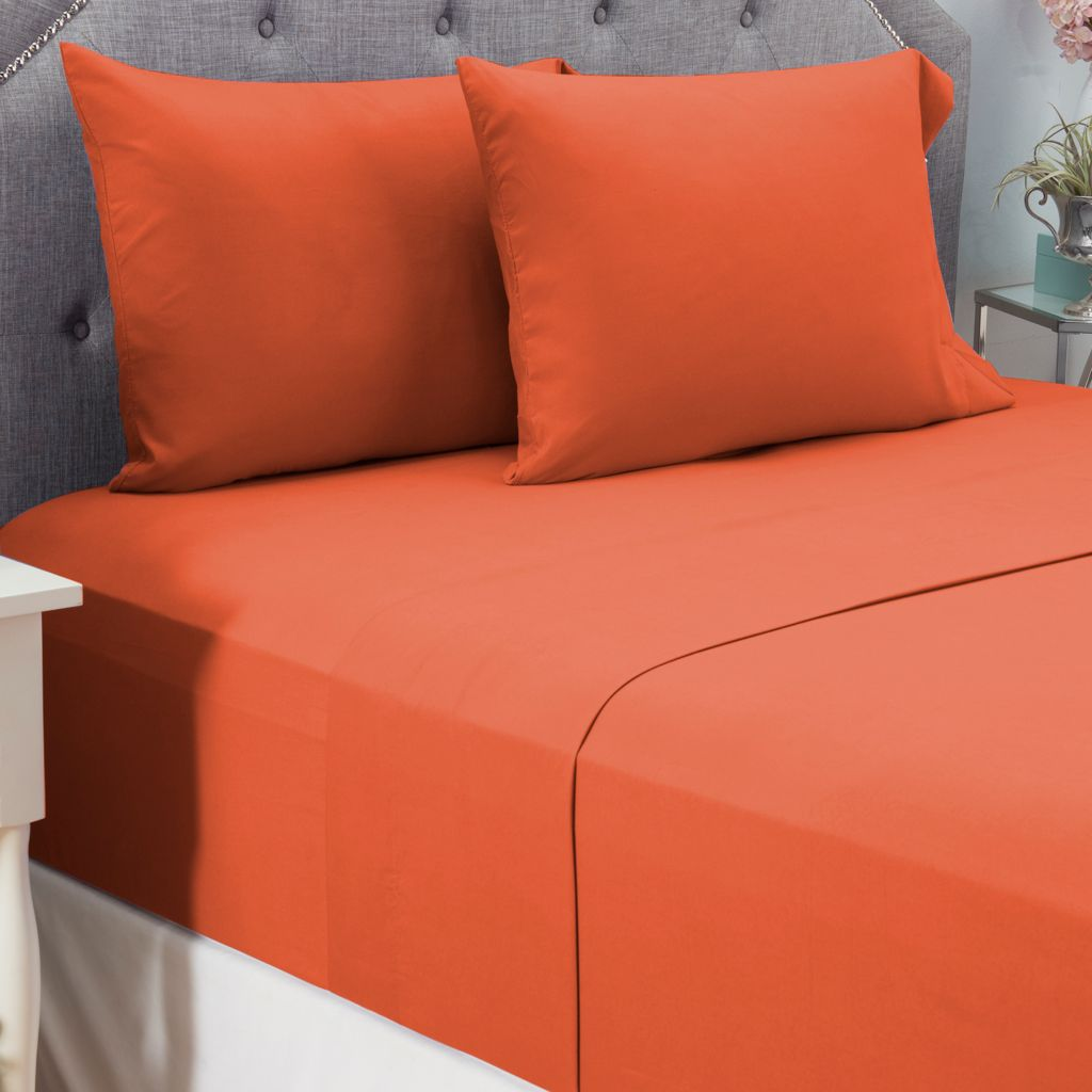 446-172 - Cozelle® Microfiber Solid Four-Piece Sheet Set