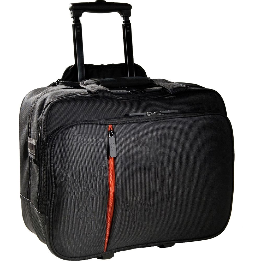 446-180 - EcoStyle Top Handle Padded Rolling Case w/ Laptop Pockets