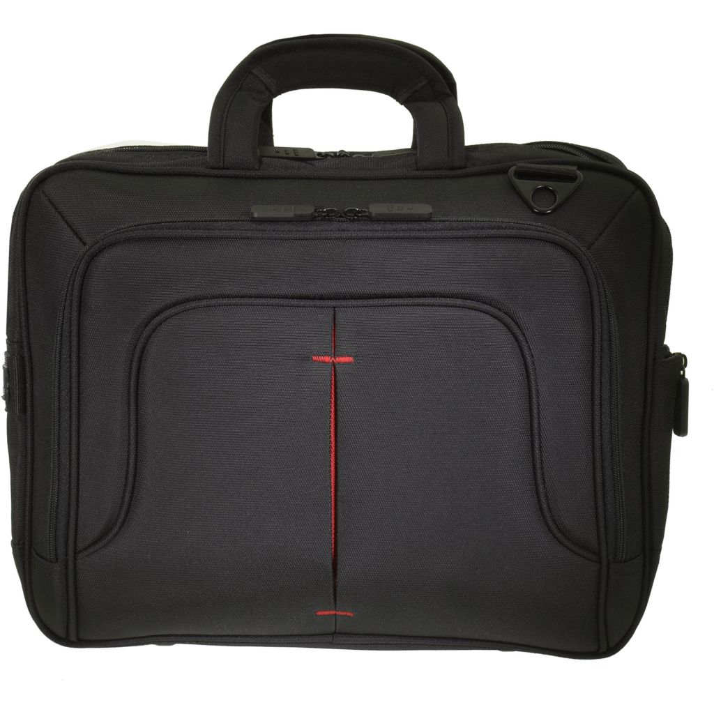 446-181 - TechPro Top Handle Black & Red Laptop Case w/ Tablet Pocket