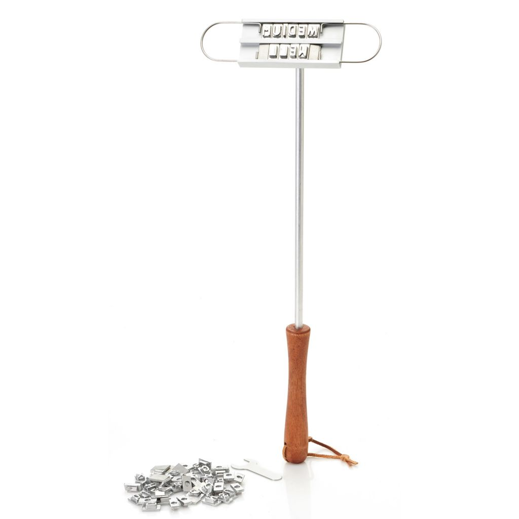"446-189 - Norpro 19"" Aluminum BBQ Branding Iron Tool w/ Changeable Letters"