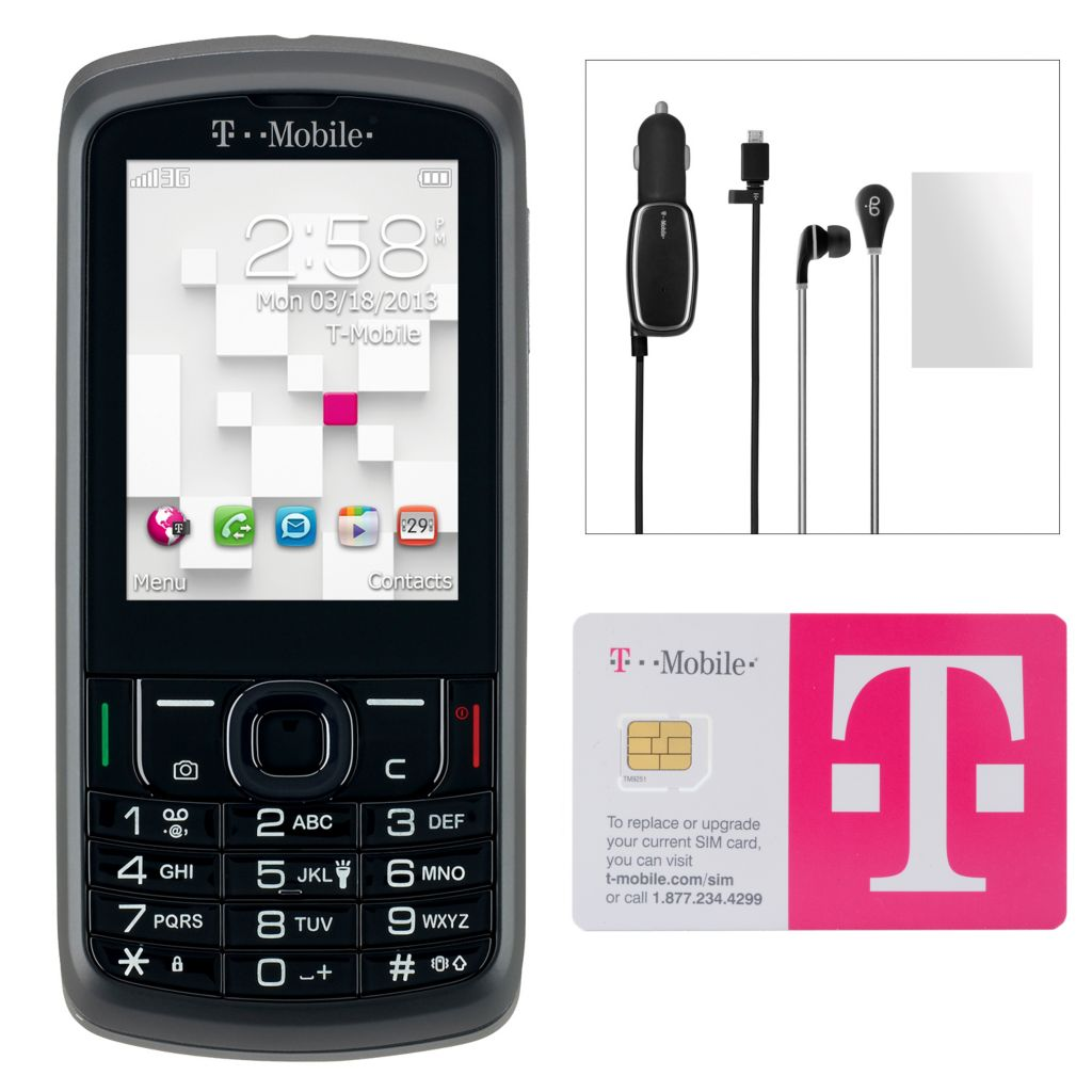 446-207 - T-Mobile Sparq II 3G Smartphone w/ Accessories & No Annual Service Contract
