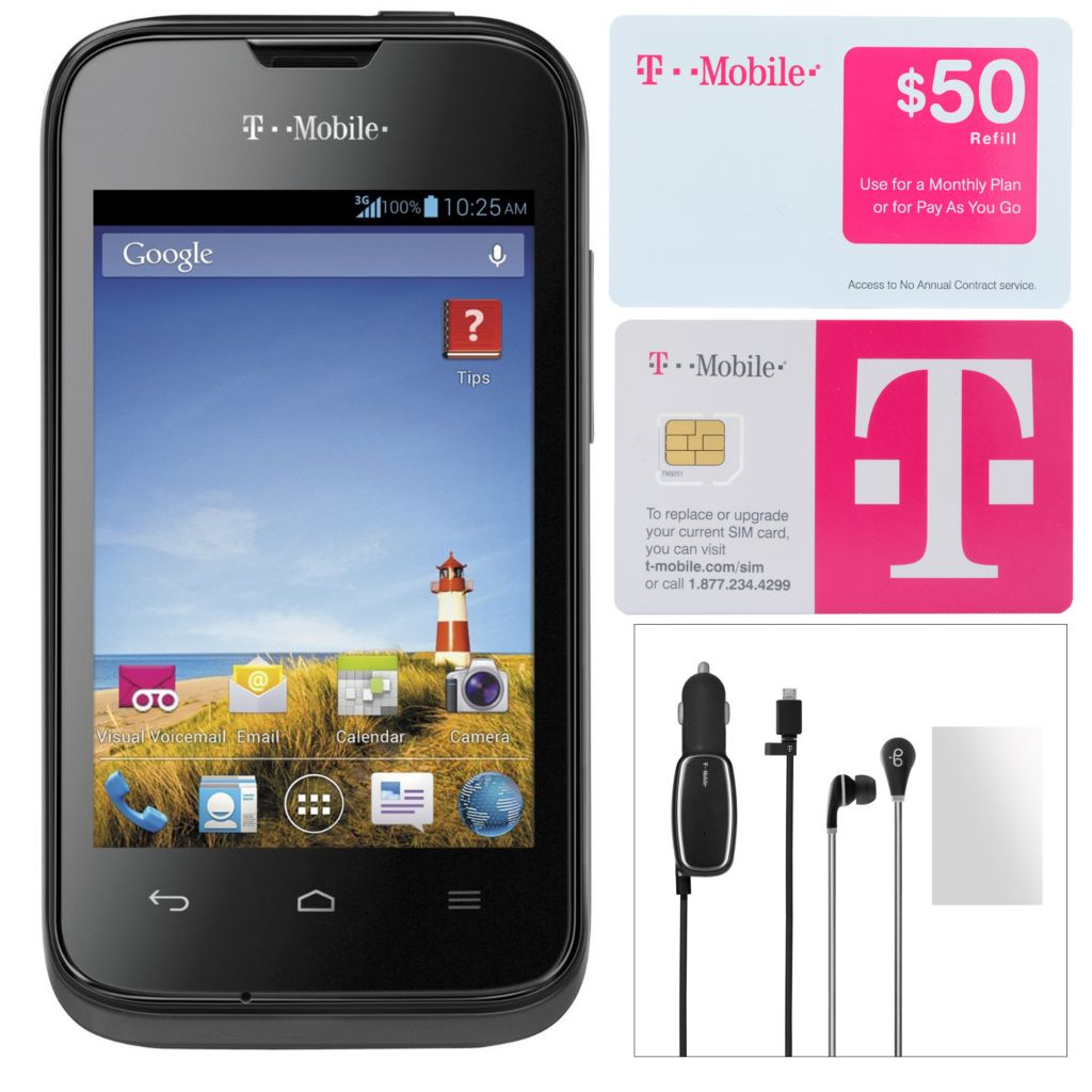 446-211 - T-Mobile Prism II 3G Smartphone w/ Accessories & No Annual Service Contract