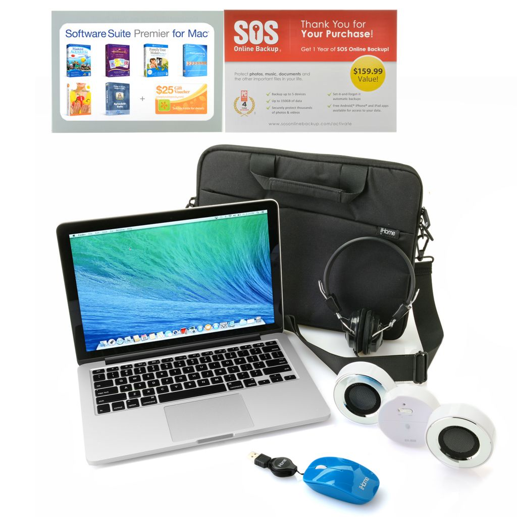 "446-221 - Apple® 13"" Intel i5 4GB/128GB Storage Retina Display MacBook Pro w/ Accessories Kit"