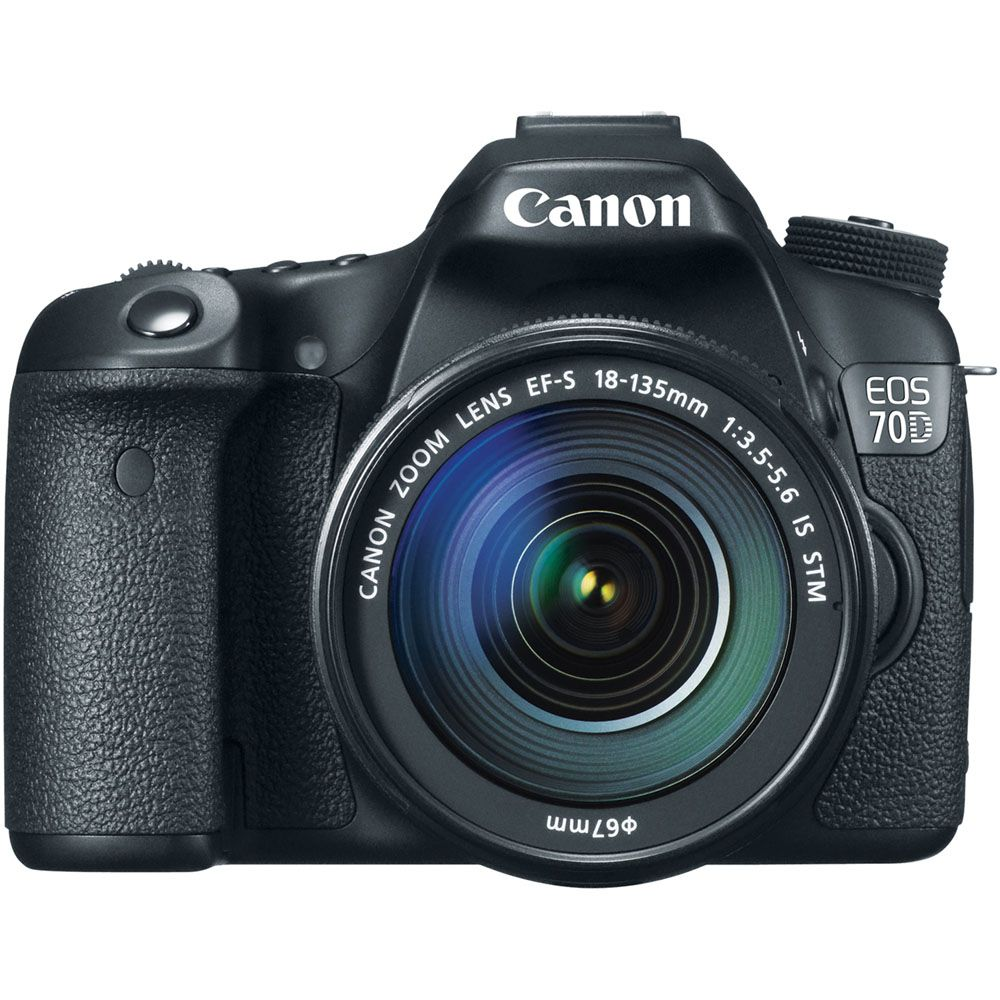446-235 - Canon EOS 70D 20.2MP Digital Camera w/ EF-S 18-135mm IS Lens
