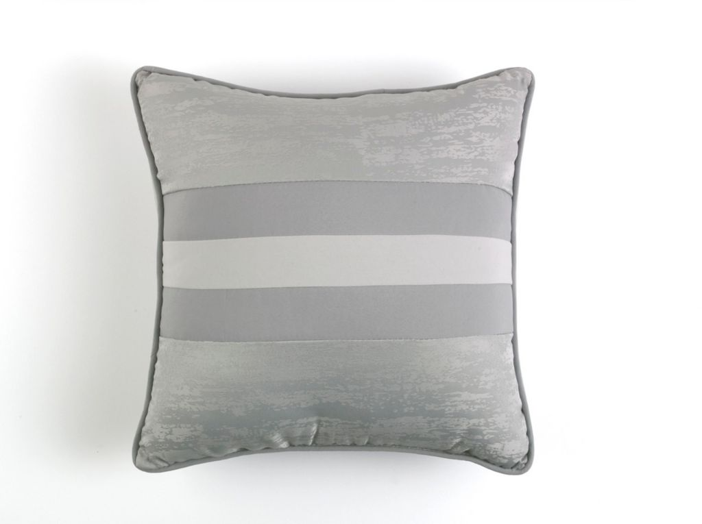 446-268 - Grey Woven Textured Euro, Bolster or Square Decorative Pillow