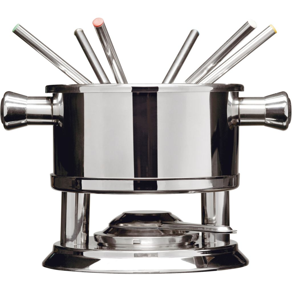446-302 - Sagaform Seven-Piece Stainless Steel Fondue Set