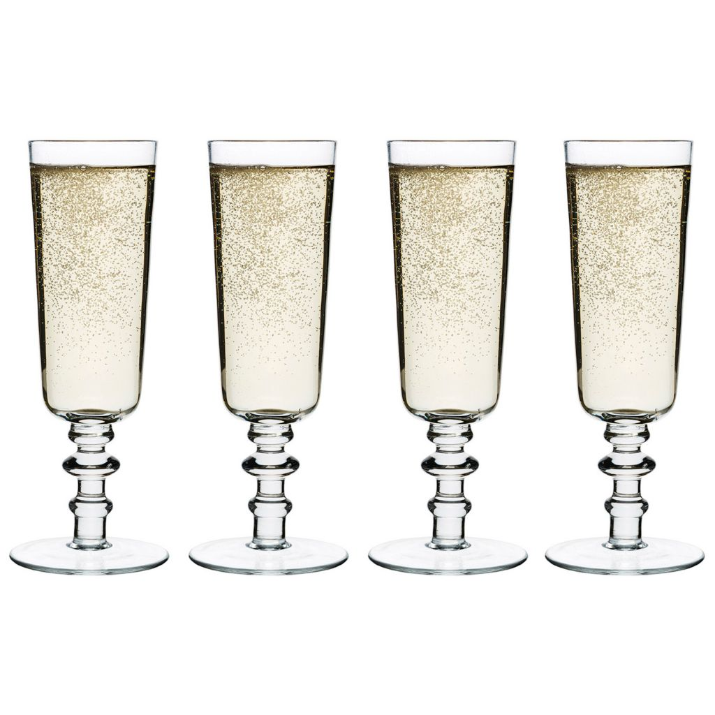 446-306 - Sagaform Set of Four Glass Spectra Champagne Glasses