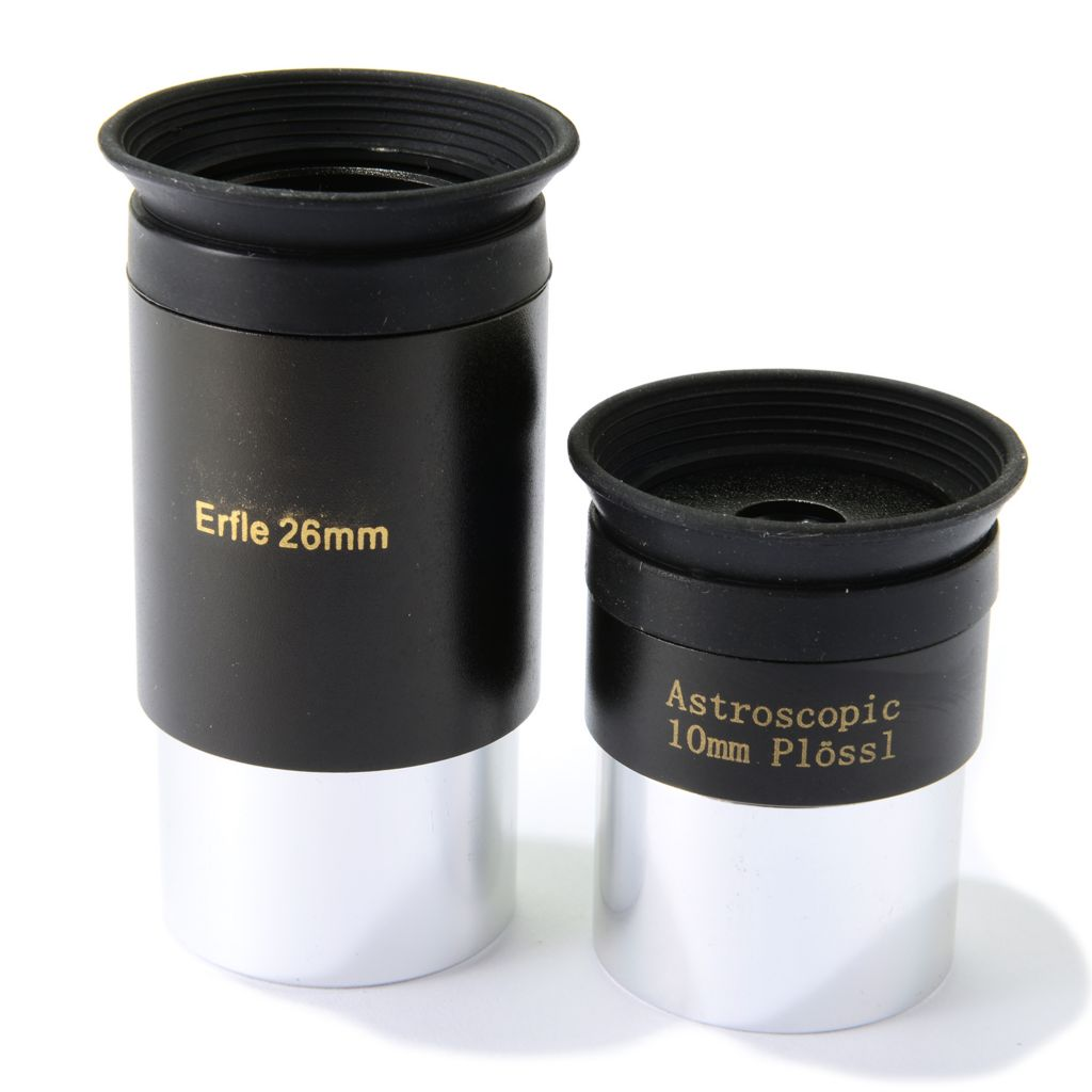 "446-320 - Cassini Set of Two 1.25"" 10mm Plössl & 26mm Erfle Astroscopic Wide Angle Eyepieces"