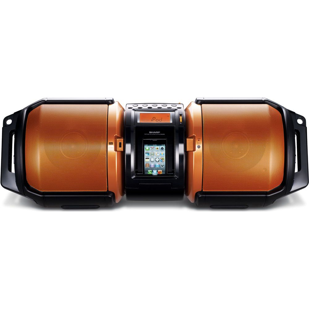 446-332 - Sharp 100 Watt Portable Audio System w/ iPod & iPhone Dock