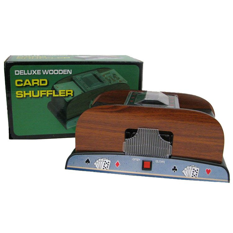 446-346 - Trademark Deluxe Wooden Card Deck Shuffler