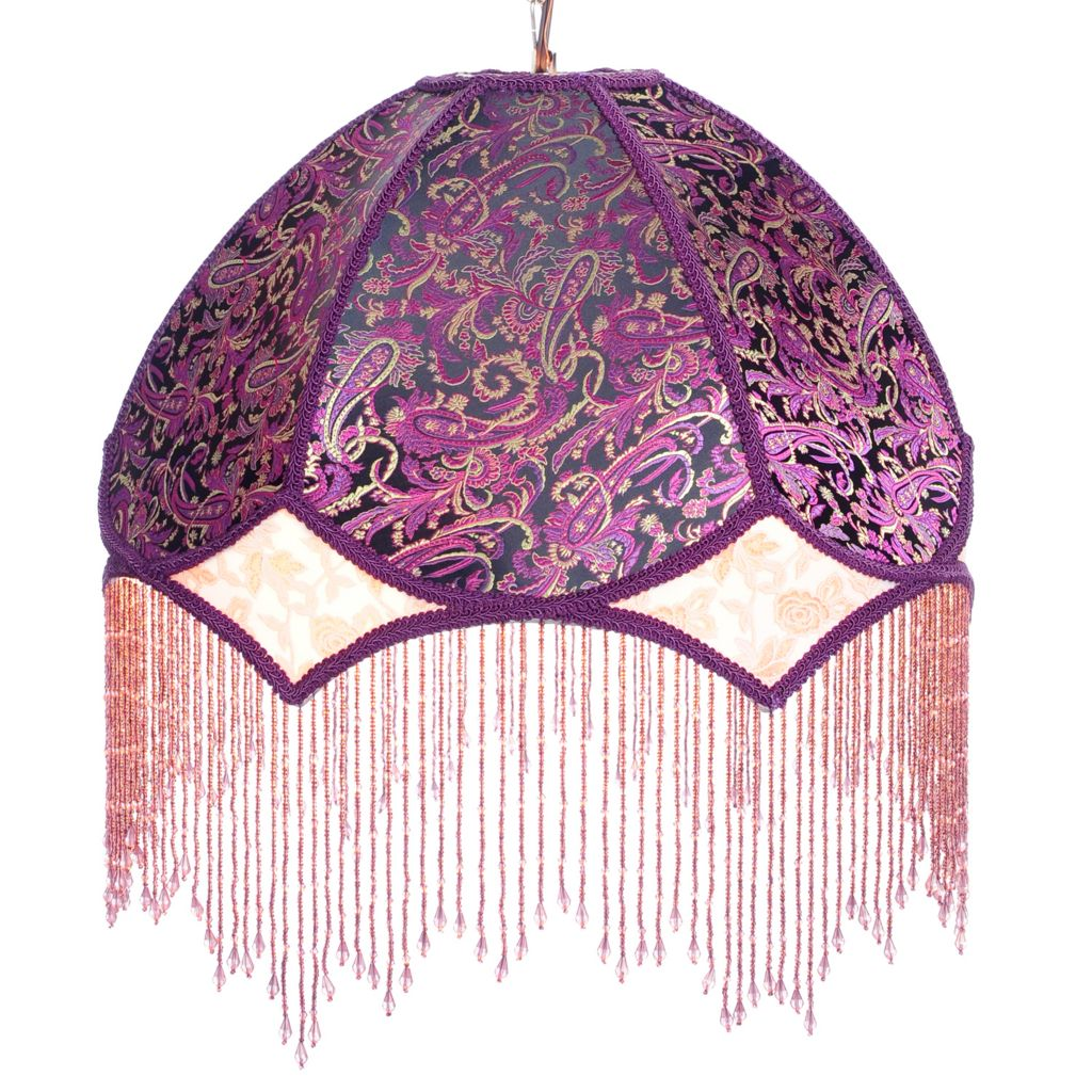"446-402 - Style at Home with Margie 20"" Hand-Strung Beaded Dreams Hanging Lamp"