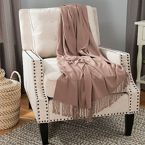 446-416 - North Shore Linens™ 70'' x 50'' Viscose from Bamboo Fringed Throw