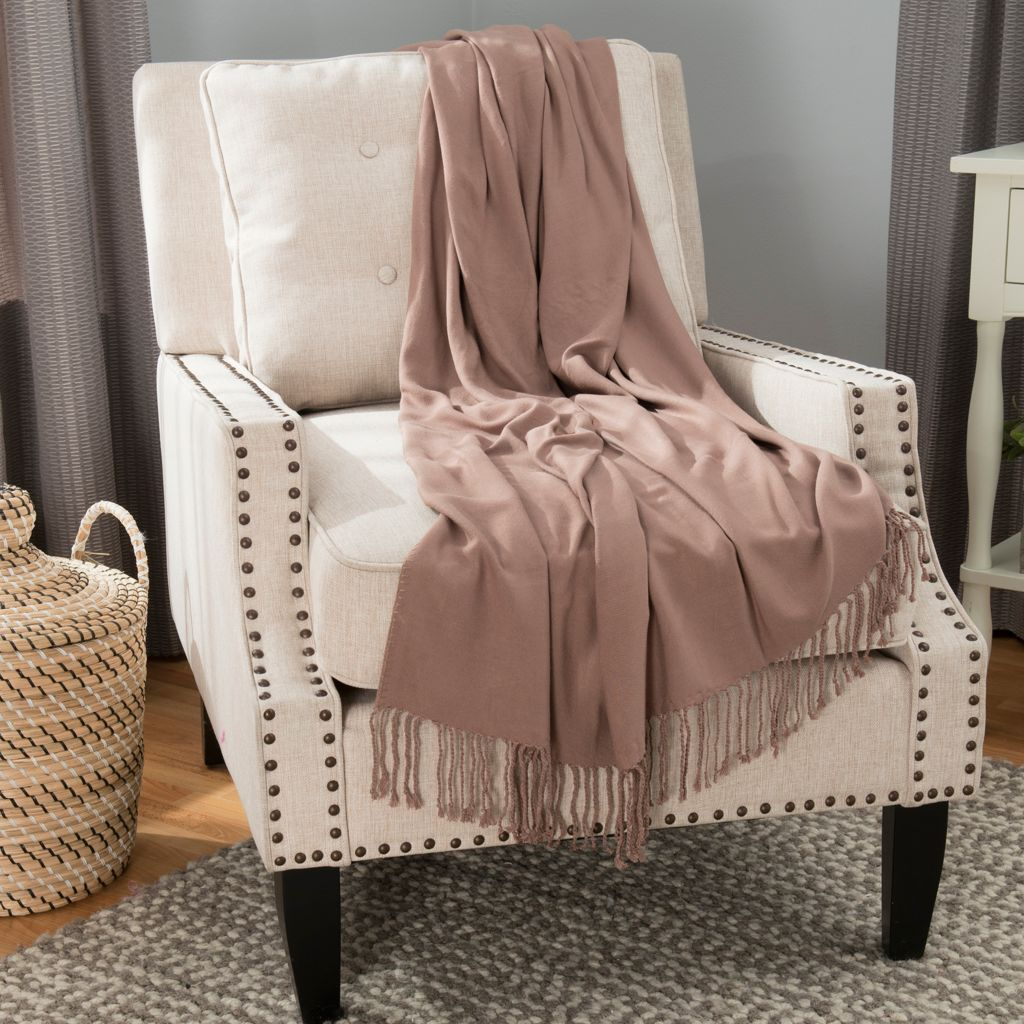 "446-416 - North Shore Linens™ 70"" x 50"" Viscose from Bamboo Fringed Throw"