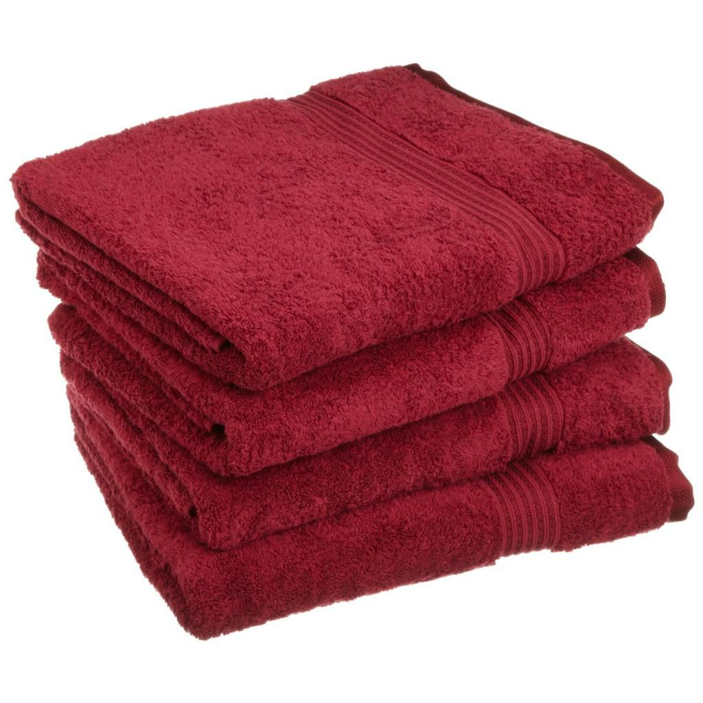 446-528 - Superior 600 GSM 100% Egyptian Cotton Four-Piece Bath Towel Set