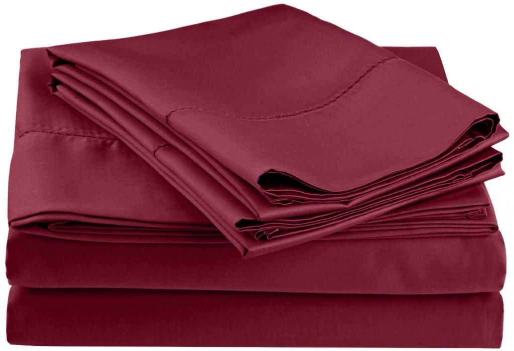 446-543 - Impressions 600TC Cotton / Poly Blend Hem Stitch Four-Piece Sheet Set