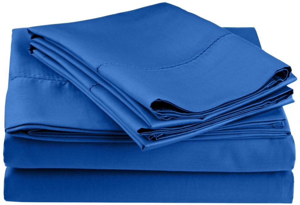 446-546 - Impressions 600TC Cotton / Poly Blend Hem Stitch Olympic Queen Four-Piece Sheet Set