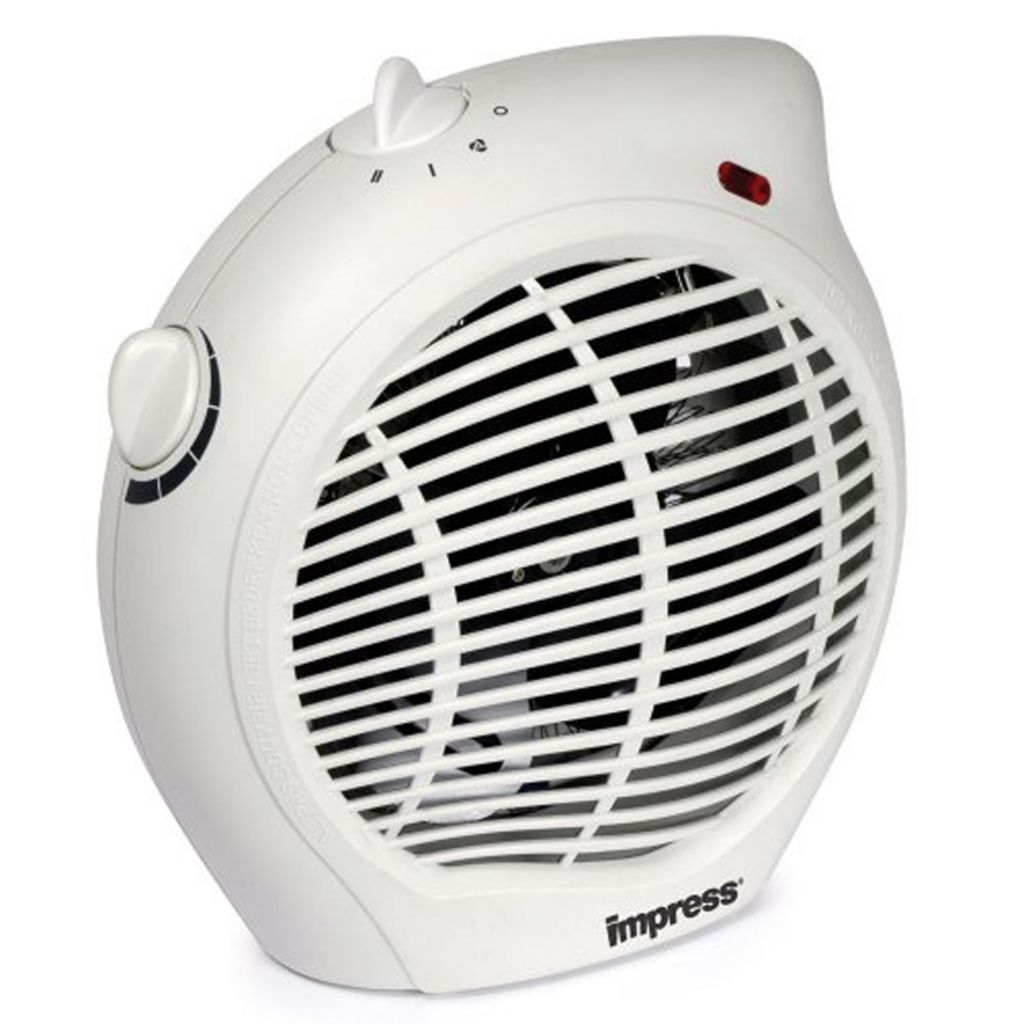 446-693 - Impress 1500W Compact Fan Heater w/ Thermostat