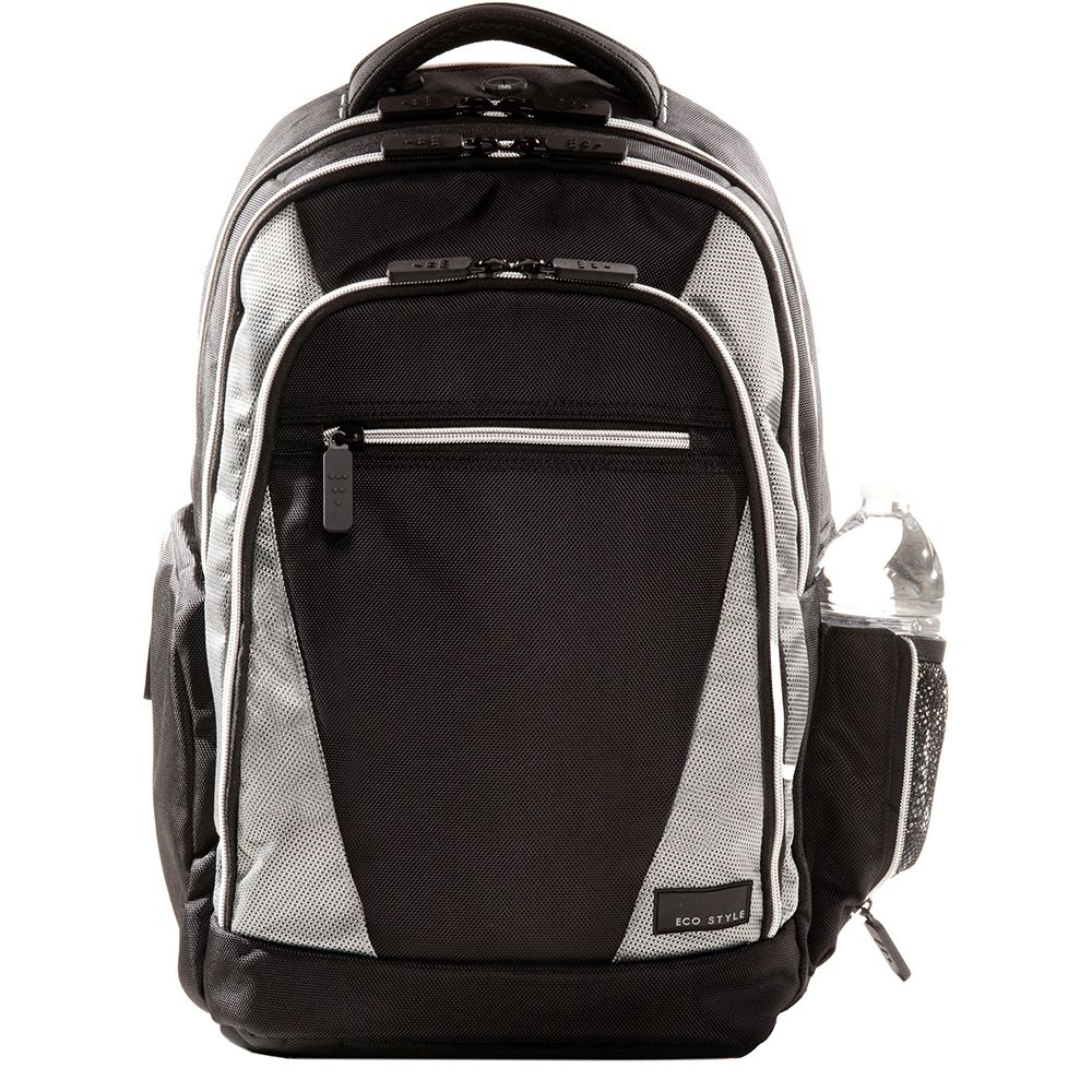 "446-877 - EcoStyle Sports Voyage Black Backpack for 16.4"" Laptop"