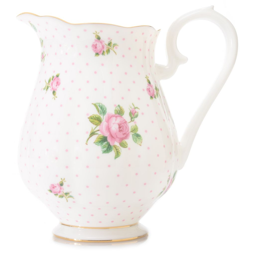 446-888 - Royal Albert® New Country Roses 48 oz Bone China 22K Gold Plated Pitcher